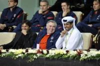 Nasser Khelaifi, Carlo Ancelotti, Leonardo - DOHA - 03-01-2012 - Leonardo: ricovero lampo per un malore