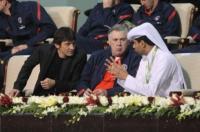 Nasser Khelaifi, Carlo Ancelotti, Leonardo - DOHA - 02-01-2012 - Leonardo: ricovero lampo per un malore
