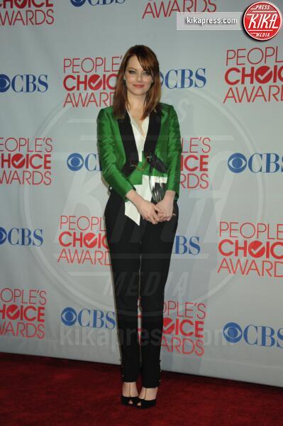 Emma Stone - Los Angeles - 11-01-2012 - People's Choice Awards 2012: gli arrivi sul red carpet