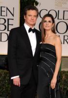 Livia Giuggioli, Colin Firth - Los Angeles - 15-01-2012 - Livia Giuggioli, moglie di Colin Firth, ha indossato un abito in plastica riciclata ai Golden Globe