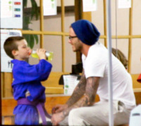 "Cruz Beckham, David Beckham - Hollywood - 06-02-2012 - David Beckham parla dei figli a Men's Health: ""Sono competitivi come me e Victoria"""