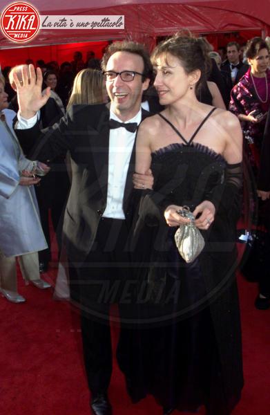 Nicoletta Braschi, Roberto Benigni - Los Angeles - 21-03-1999 - Roberto Benigni querela la trasmissione Report