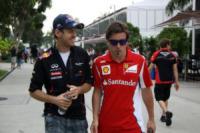 Sebastian Vettel, Fernando Alonso - Sepang - 23-03-2012 - Gran Premio F1 a Sepang