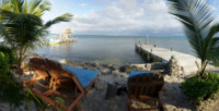 Beachfront Chairs - Belize - 26-03-2012 - Belize