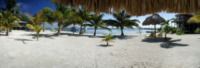 Palm Tree Beach From Under a Palapa - Belize - 26-03-2012 - Belize