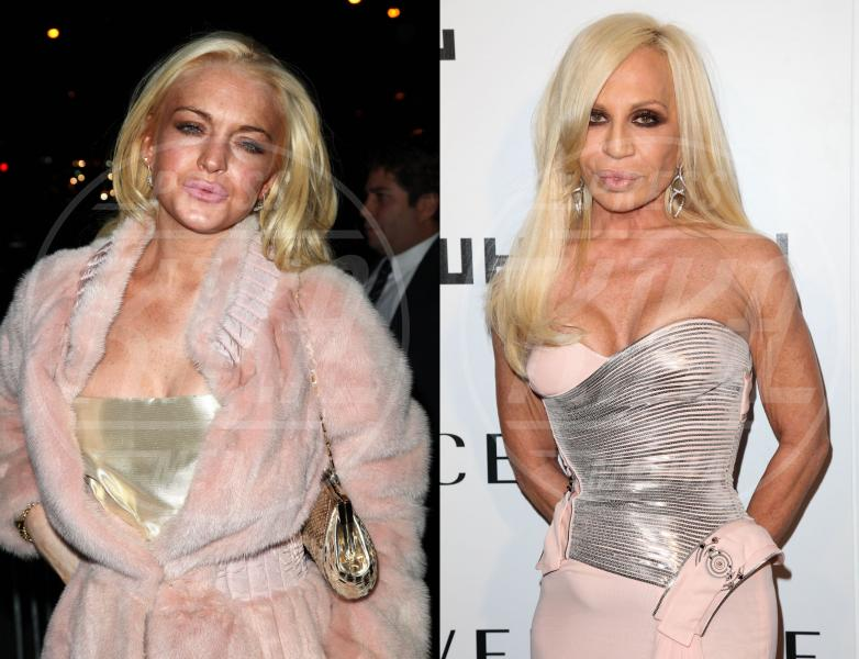 Donatella Versace, Lindsay Lohan - Hollywood - 28-11-2014 - Leonardo DiCaprio ha un sosia, ed è italiano, Davide Silvestri