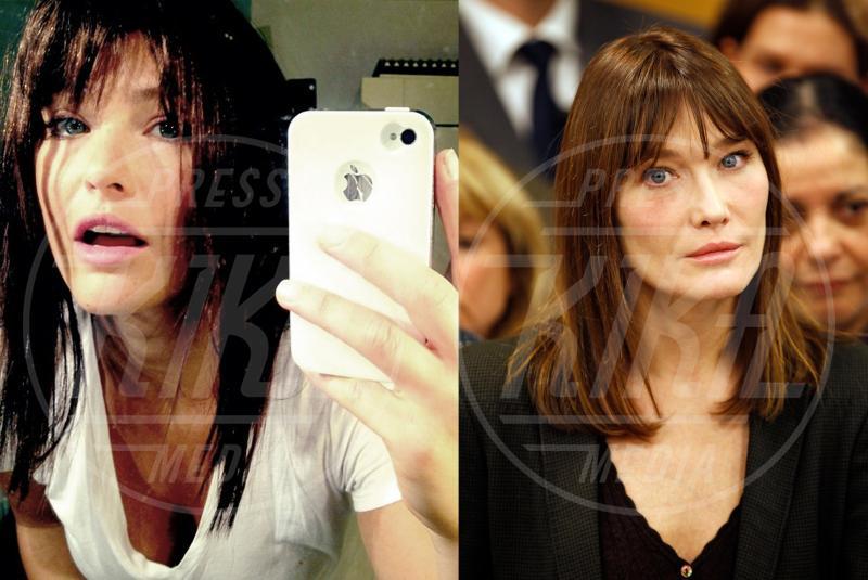 Carla Bruni, Bar Refaeli - 03-05-2012 - Separati alla nascita: ma siete identici!