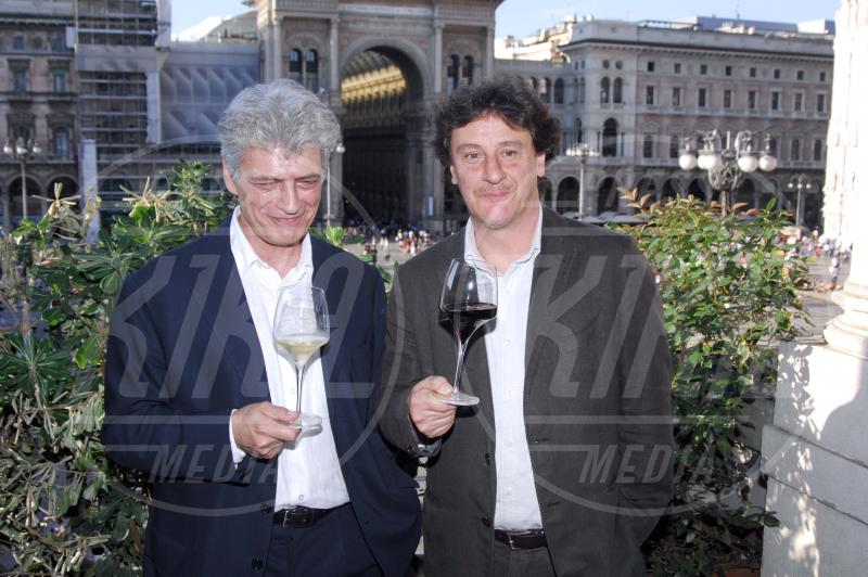 Giorgio Tirabassi, Fabrizio Bentivoglio - Milano - 03-05-2012 - Camilla di Cornovaglia, in vino veritas?