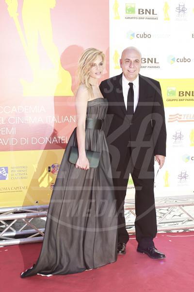 Paolo Virzì, Micaela Ramazzotti - Roma - 04-05-2012 - La bella e la bestia: non tutte le coppie riescono col buco!