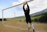 Giuseppe Gambaiani - Nuoro - 13-05-2012 - Il portiere Giuseppe Gambaiani: fair-play da retrocessione