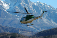FORESTALE ELICOTTERISTI BELLUNO - Belluno - 12-01-2007 - Gli elicotteristi della forestale entrano in azione