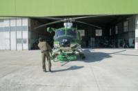ELICOTTERO FORESTALE missione - Belluno - 01-03-2012 - Gli elicotteristi della forestale entrano in azione