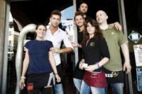 Riccardo Manzi, Martina D'Ulivo, Marco Loda, Marco Tavazzani, Lu - Pavia - 13-06-2012 - No Slot Pavia: anche il sindaco Cattaneo contro la dipendenza