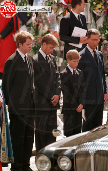 Earl Spencer, Principe Carlo d'Inghilterra, Principe William, Principe Harry - 06-09-1997 -