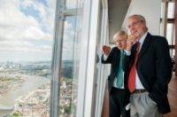 Renzo Piano, Boris Johnson - Londra - 05-07-2012 - Piano, Abbado, Cattaneo e Rubbia senatori a vita