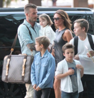 Harper Beckham, Cruz Beckham, Romeo Beckham, Brooklyn Beckham, David Beckham, Victoria Beckham - Los Angeles - 05-07-2012 - Spice reunion al party per i 40 anni di Victoria Beckham