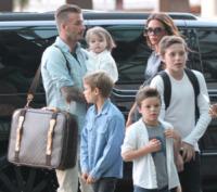 Harper Beckham, Cruz Beckham, Romeo Beckham, Brooklyn Beckham, David Beckham, Victoria Beckham - Los Angeles - 05-07-2012 - I Beckham traslocano a casa di Gianni Versace