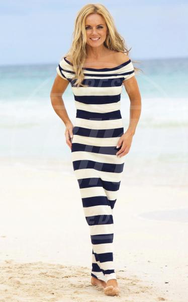Geri Halliwell - Sydney - 09-07-2012 - Tutte in riga black&white come Amal Alamuddin!