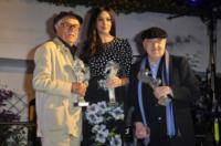 Roberto Di Simone, Vittorio Taviani, Monica Bellucci - Ischia - 12-07-2012 - Lutto nel mondo del cinema: morto il regista Vittorio Taviani