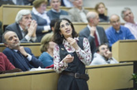 Fabiola Gianotti - Ginevra - 13-12-2011 - Fabiola Giannotti, un'italiana fra gli scopritori del Bosone