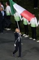 Valentina Vezzali - Londra - 28-07-2012 - Olimpiadi Londra: Valentina Vezzali è la portabandiera italiana