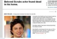 Morte bufala Zach Braff - Los Angeles - 29-12-2010 - Britney Spears è morta: il web si dispera, ma era una bufala