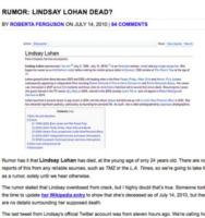Lindsay Lohan - Los Angeles - 29-12-2010 - Britney Spears è morta: il web si dispera, ma era una bufala