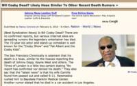 Morte bufala Bill Cosby - Los Angeles - 29-12-2010 - Britney Spears è morta: il web si dispera, ma era una bufala