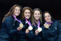 Ilaria Sa, Arianna Errigo, Elisa Di Francisca, Valentina Vezzali - Londra - 02-08-2012 - Dallo sport alla politica il passo è breve