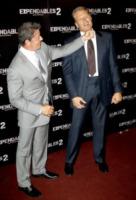 Dolph Lundgren, Sylvester Stallone - Parigi - 10-08-2012 - Rocky vs Drago, la rivincita