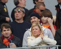 Derby Roma Lazio - Roma - 05-03-2012 - Quando le celebrity diventano il pubblico