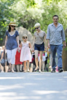 Carla Williams, Matilda Ledger, Jason Segel, Michelle Williams - New York - 31-08-2012 - Michelle Williams allo zoo con tutta la famiglia