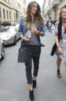 Melissa Satta - Milano - 22-09-2012 - Settimana della moda: Giuseppe Zanotti apre ai vip la sua boutique