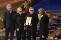 Paolo Taviani, Tullio Solenghi, Vittorio Taviani - Roma - 04-05-2012 - Lutto nel mondo del cinema: morto il regista Vittorio Taviani