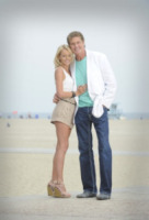 Hayley Roberts, David Hasselhoff - Venice - 12-07-2012 - David Hasselhoff sposo in Italia con la sua Hayley