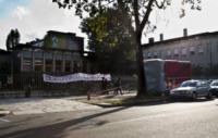 Striscione - Milano - Il chiosco dei panini anti N'drangheta