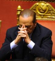 Berlusconi dopo l'intervento di Rosati - Ferrara - 21-06-2011 - Processo Mediaset: condanna a 4 anni per Silvio Berlusconi