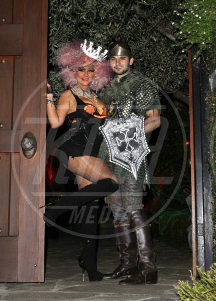Matthew Rutler, Christina Aguilera - Los Angeles - 27-10-2012 - A Hollywood, la celebrità è in maschera a Halloween
