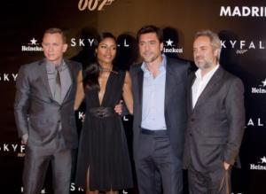 Naomie Harris, Sam Mendes, Daniel Craig, Javier Bardem - Madrid - 29-10-2012 - Sam Mendes forse di nuovo alla regia per il prossimo Bond