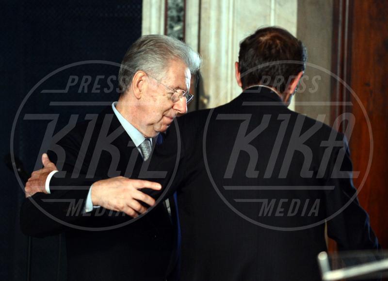 Mario Monti, Gianfranco Fini - Roma - 30-10-2012 - Da Napolitano a Monti dormono tutti al 150 della Corte dei Conti