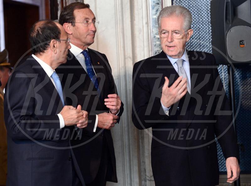 Mario Monti, Renato Schifani, Gianfranco Fini - Roma - 30-10-2012 - Da Napolitano a Monti dormono tutti al 150 della Corte dei Conti