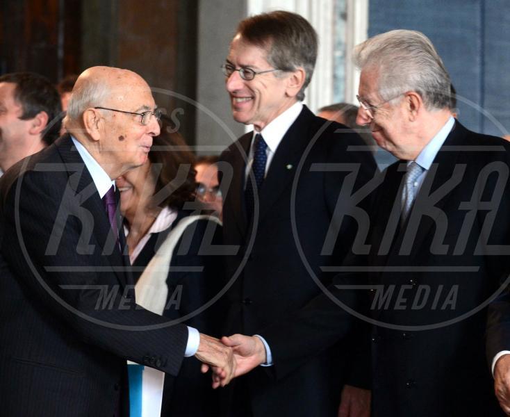 Mario Monti, Giorgio Napolitano - Roma - 30-10-2012 - Da Napolitano a Monti dormono tutti al 150 della Corte dei Conti