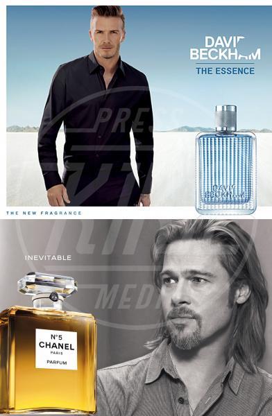 David Beckham, Brad Pitt - Los Angeles - 02-11-2012 - David Beckham risponde a Brad Pitt con The Essence
