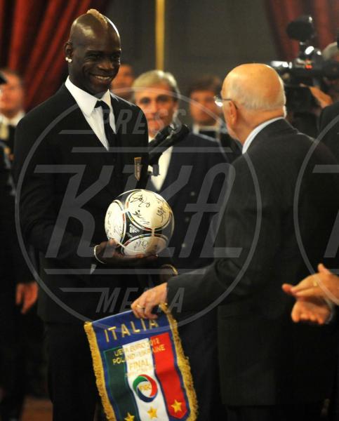 Giorgio Napolitano, Mario Balotelli - Roma - 02-07-2012 - Mario Balotelli: da bad boy alla cover di Time