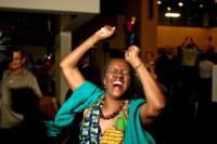 Fan Barack Obama - Chicago - 07-11-2012 - Barack Obama ancora presidente, i volti della gioia