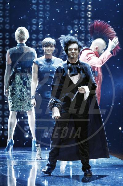 Elio, Arisa, Simona Ventura, Morgan - Milano - 18-10-2012 - X Factor 2012: la sfida dei tutor a colpi di look