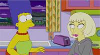 Marge Simpsion, bacio lesbo, Lady Gaga - 18-05-2012 - Justin Bieber arriva in tv come personaggio dei Simpson