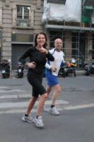 Alessandro Sallusti, Daniela Santanchè - Milano - 14-05-2012 - Lo sport? Decisamente è meglio in coppia...