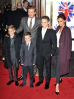 Brooklin Beckham, Cruz Beckham, Romeo Beckham, David Beckham, Victoria Beckham - 11-12-2012 - Spice reunion al party per i 40 anni di Victoria Beckham