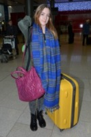 Saoirse Ronan - Dublino - 13-12-2012 - Saoirse Ronan arriva all'aeroporto insieme al papa'